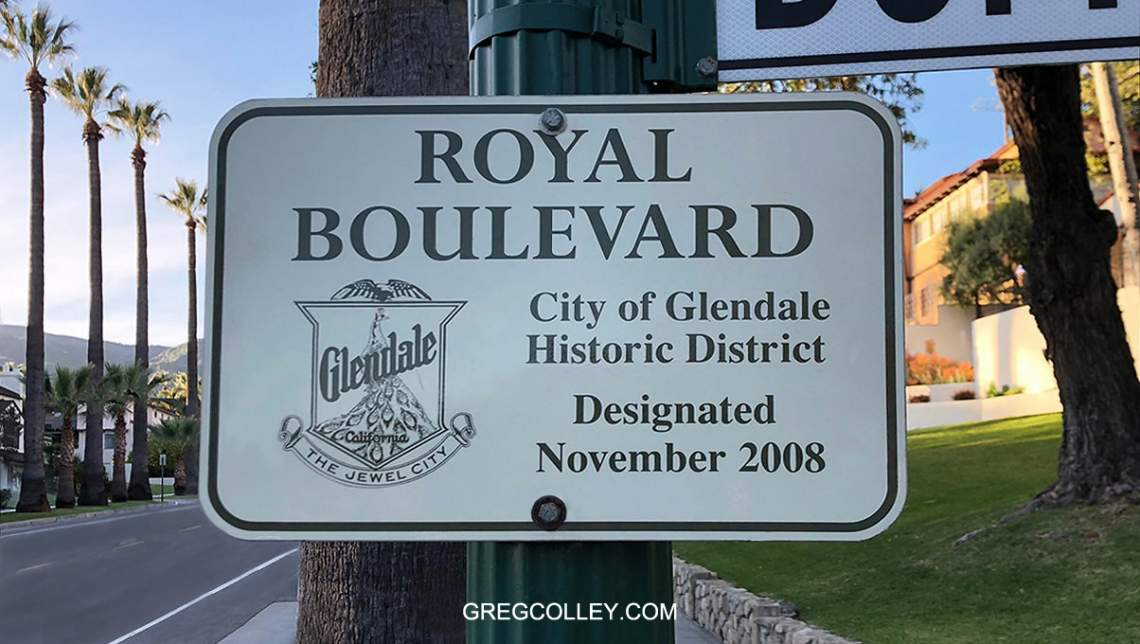Glendale Greenbriar Historic Sign
